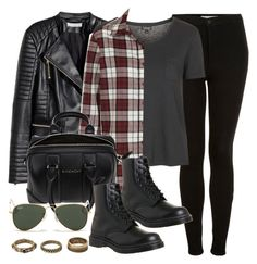 """""""Style #9779"""" by vany-alvarado ❤ liked on Polyvore featuring H&M, Topshop, Givenchy, Dr. Martens, Ray-Ban, Forever 21, women's clothing, women, female and woman"""