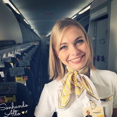 Passaredo Airlines Stewardess Mais