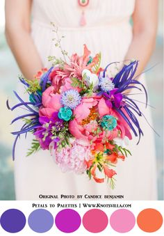 Wild & Colorful Bouquets: 15 Most Colorful Wedding Bouquets So Far » KnotsVilla