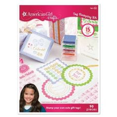 American Girl Crafts Tag Stamping Kit by EK Success. $10.98. Stamp away, and then tie to your special gift!. Arrange clear stamps the way you'd like them to appear on your tag.. Make 15 stamped tags.. 90 pieces included. For Ages 8+. From the Manufacturer                Personalize your crafts with colorful gift tags that you stamp yourself. Make 15 stamped tags. Package size is 6.5- inches -by-9.5- inches 90 pieces.                                    Product De...
