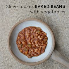 Slow-cooker BAKED BEANS with vegetables