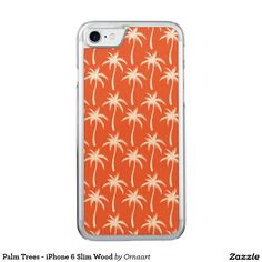 Palm Trees - iPhone 6 Slim Wood Carved iPhone 7 Case
