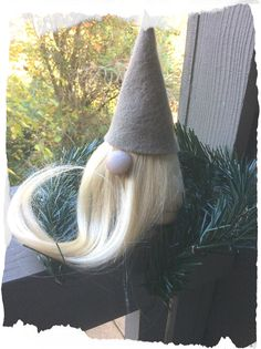 1 Handmade Swedish Tomte,Nisse,Santa,Sockerbit Sven Gnome- Holiday Home Decoration Christmas Gifts. What is a gnome? Gnome also known as a Tomte or Nisse.Not many people have seen them because they are very shy and live in the woods. Invite an old friends over for the holidays: The gnomes body is crafted from soft felt. The long blonde beard is made from fake hair, very long as to hang loosely from the shelf, or curl it up like in the picture He will stand on his own and has a weighted...