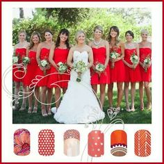 Summer Wedding with Jamberry Nails - www.kera.jamberrynails.net
