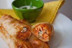 Buffalo Chicken Rolls. 103 Calories per roll!