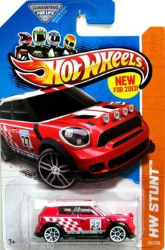 Hot Wheels 2013 HW Showroom 12 Mini Countryman Rally Red -- You can get added details at the picture web link. (This is an affiliate link). Carros Hot Wheels, Road Rally, Toy Cars For Kids, Mini Countryman, Lego Room, Matchbox Cars, Metal Toys, Hot Wheels Cars, Classic Toys