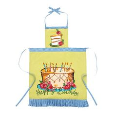I pinned this Happy Birthday Apron in Lime from the Julia Junkin & Monica Lee event at Joss and Main!