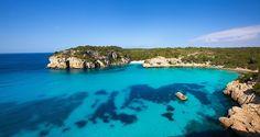Cala Macarella and Macarelleta Ciutadella in Menorca Mediterranean Balearic islands