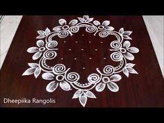 Easy flower kolam designs with 9 dots || muggulu designs with dots || आसान रंगोली डिजाइन - YouTube