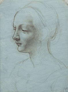 Leonardo da Vinci (Vinci 1452-Amboise 1519) (artist) Creation Date:  c.1485-90 Materials:  Metalpoint on pale blue prepared paper Dimensions:  16.5 x 12.4 cm RCIN  912512