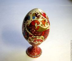 Купить Яйцо Райская Птица, борецкая роспись - роспись, Роспись по дереву, заготовки из дерева, игрушки