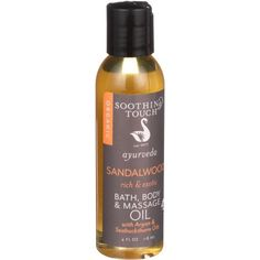 Soothing Touch Bath Body and Massage Oil - Ayurveda - Sandalwood - Rich and Exotic - 4 oz