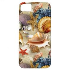Fancy Seashells at The Beach iPhone 5 Cases