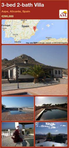 3-bed 2-bath Villa in Aspe, Alicante, Spain ►€295,000 #PropertyForSaleInSpain