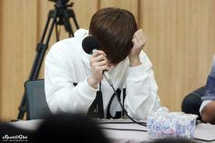 Sunggyu at the radio show <3 #infinite #sunggyu #kpop