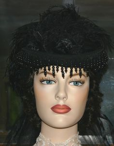 Mourning Hat 1880s Victorian Style Hat by eastangelharborhats, $179.00