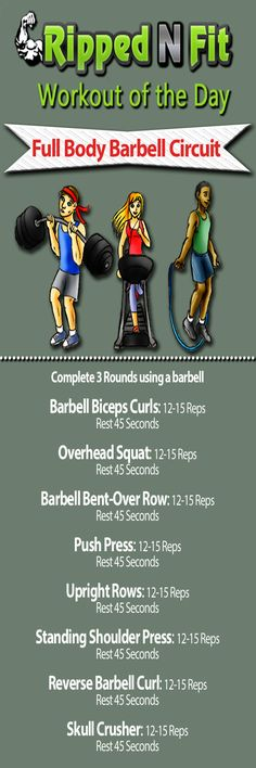 Workout of the Day: Full Body Barbell Circuit - RippedNFit: Exercise, Nutrition, Lifestyle & Online Fitness Community