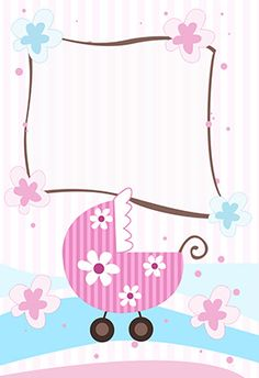 """""""new baby girl"""" printable invitation. Customize, add text and photos. print for free!"""