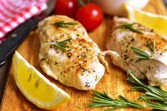 Delicious chicken breasts with Greek inspired marinade. http://www.laaloosh.com/2016/01/22/lemon-glazed-greek-chicken/