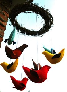 Backyard Birds Mobile by TweetToys on Etsy, $42.00