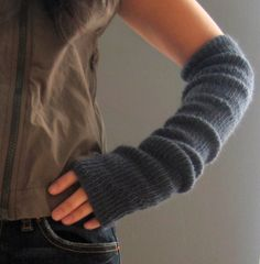 Knit Arm Warmers