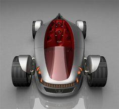 Green Car, Streamlife, Concept Car, Urban hydrogen powered car