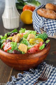 Make your own Olive Garden Salad Dressing at home with this easy copycat recipe.