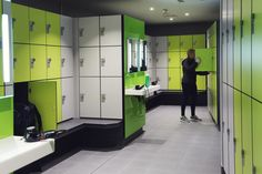 Lockers for Leisure - changing room furniture designed, manufactured and installed by Craftsman Lockers Sports Locker, Gym Lockers, Room Furniture Design, Changing Room, Vanity Units, Bespoke, Craftsman, Locker Storage, Rooms