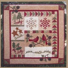 Quilt Pattern  Christmas Winter Wall hanging by PrimitiveQuilting, $13.00