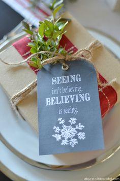 A Burst of Beautiful: Chalkboard Christmas Tags {FREE Printable}