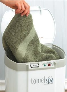 Enjoy the luxury of a freshly warmed towel anytime.   25 Bathroom Gadgets You Never Knew You Needed