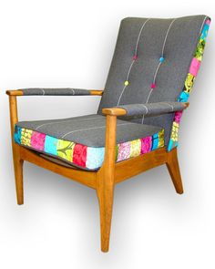 Patchwork wooden armchair in Designers Guild by JustinaDesign, £399.00