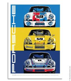Porsche 911RSR - Das Jahr des RSR - Poster The artwork that graced the December 2013 issue of Porsche Panorama Magazine, the World's largest Porsche magazine.