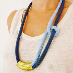 Beautiful result from one of our workshop participants. Handmade bohemian chic necklace