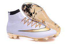 Nike Soccer Boots 2016 Mercurial Superfly 15th Anniversary Edition FG white gold $ 99.99