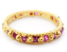 Polly Wales - Antique Cut Ruby Rapunzel Ring