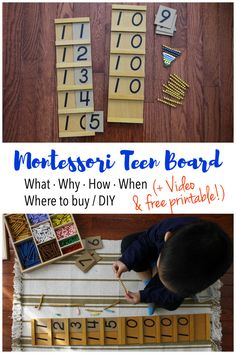 The Montessori Teen Board is on our Math shelf at 3.5 years old. In this post, I will share with you the what, why, how, when, where to buy or how to DIY, plus some videos of Z in action.