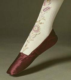 Original shoe w/stockings - Regency