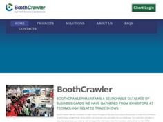 BoothCrawler is announcing the launch of their new recruiter tool, a service that collects business cards to source passive candidates from all over the country. Clients are able to view the contact information for thousands of contacts in the company's extensive database. Read more: http://www.sbwire.com/press-releases/recruiter-tool/candidate-sourcing/sbwire-293299.htm