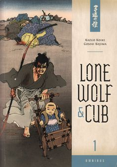 """Lone Wolf and Cub"" omnibus #1 front cover by Frank Miller and Lynn Varley"
