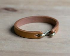 Natural Vegetable-tanned Leather S Hook by EternalLeatherGoods