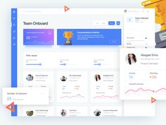 Team Onboard Dashboard by Pedro Ribeiro - Dribbble Web Dashboard, Ui Web, Dashboard Design, App Ui Design, User Interface Design, Pop Design, Design Lab, Flat Design, Interaction Design