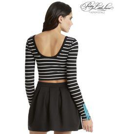 Pretty Little Liars Aria Ponte Side Zip Skirt - Aeropostale