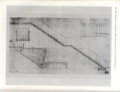 Detalle escalera Le Corbusier, Line Chart, Diagram, Stairway