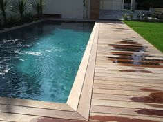 Backyard Pool Designs, Small Backyard Pools, Small Pools, Decks Around Pools, Pool Decks, Swimming Pool Landscaping, Swimming Pool Designs, Wooden Pool Deck, Pool Deck Plans