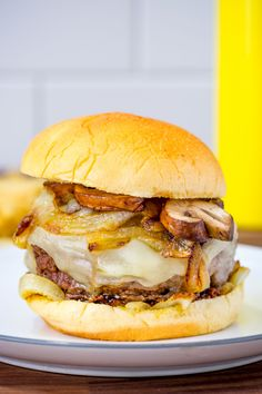 French Onion Soup Burger  - Delish.com