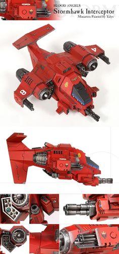 Blood Angels, Interceptor, Space Marines, Stormhawk, Warhammer 40,000