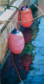 "Joel R. Johnson / Fenders / Size: 41x27.5"" / Watercolor Painting"