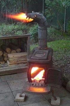 Trogdor wood stove, a nice patio warming stove