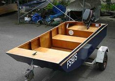 The Handy Punt boat plan is ideal as a fishing boat or for family use around lakes and estuaries. It is a great plywood utility boat for easy building and cartop transport. An ideal outboard dinghy if you tow a caravan. Building Logo, Make A Boat, Build Your Own Boat, Plywood Boat Plans, Wooden Boat Plans, Wooden Boat Building, Boat Building Plans, Aluminum Jon Boats, Utility Boat